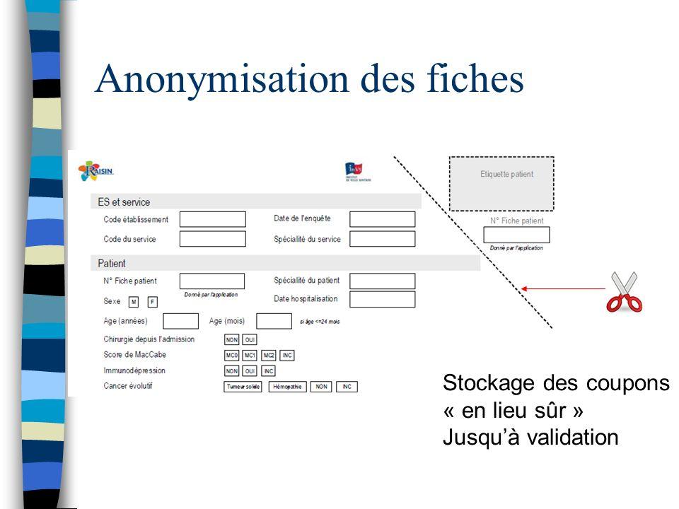 Anonymisation des fiches