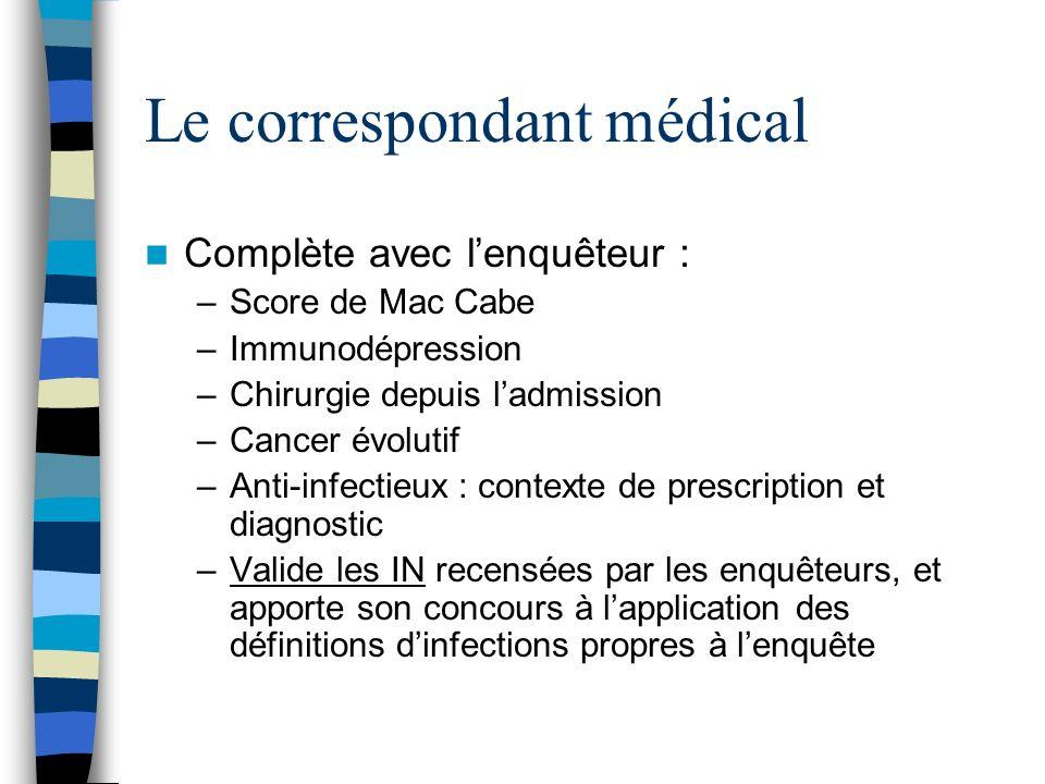 Le correspondant médical