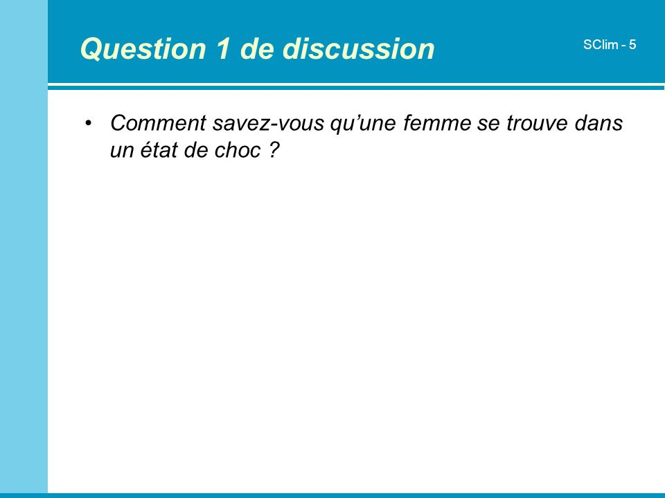 Question 1 de discussion