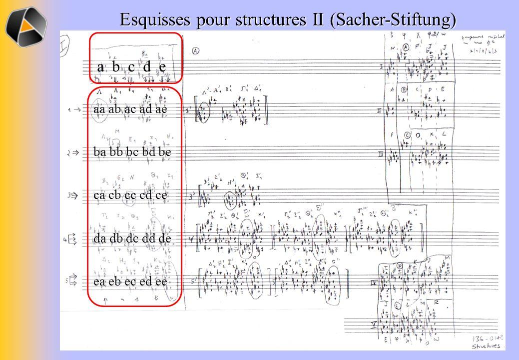 Esquisses pour structures II (Sacher-Stiftung)