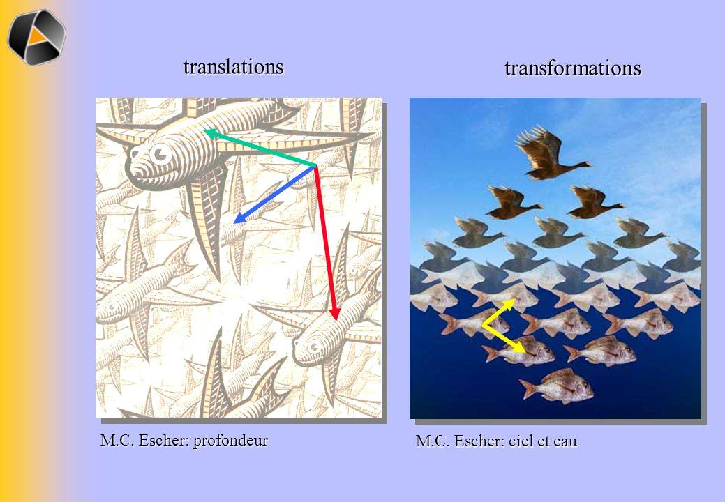 translations transformations M.C. Escher: profondeur