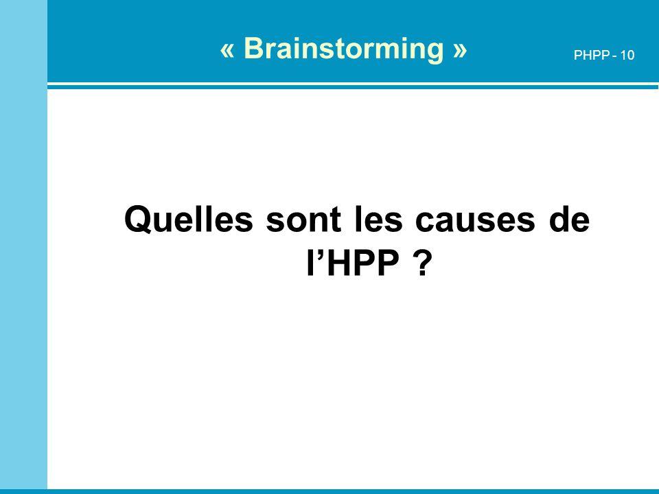 Quelles sont les causes de l'HPP