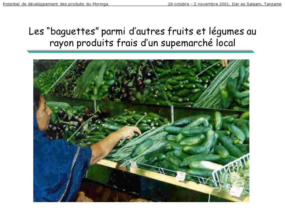 Potentiel de développement des produits du Moringa 29 octobre - 2 novembre 2001, Dar es Salaam, Tanzanie