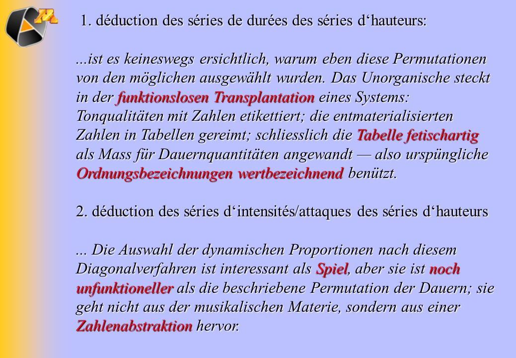1. déduction des séries de durées des séries d'hauteurs: