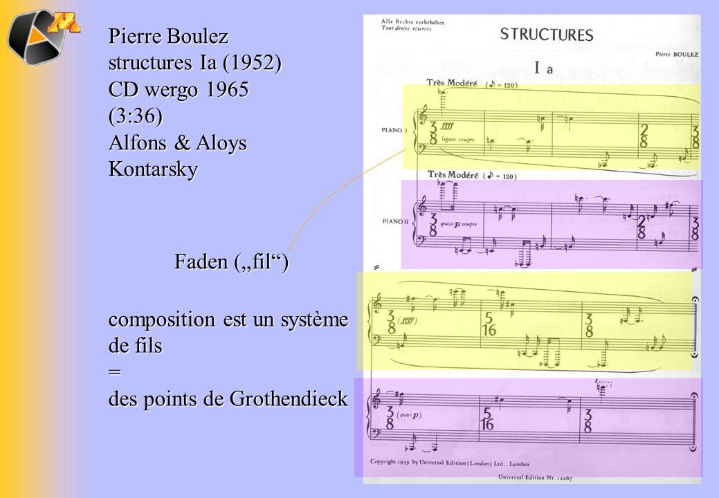 Pierre Boulez structures Ia (1952)