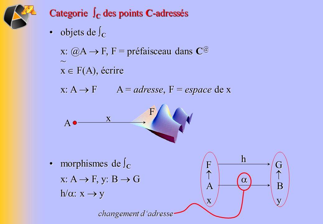 Categorie ∫C des points C-adressés objets de ∫C