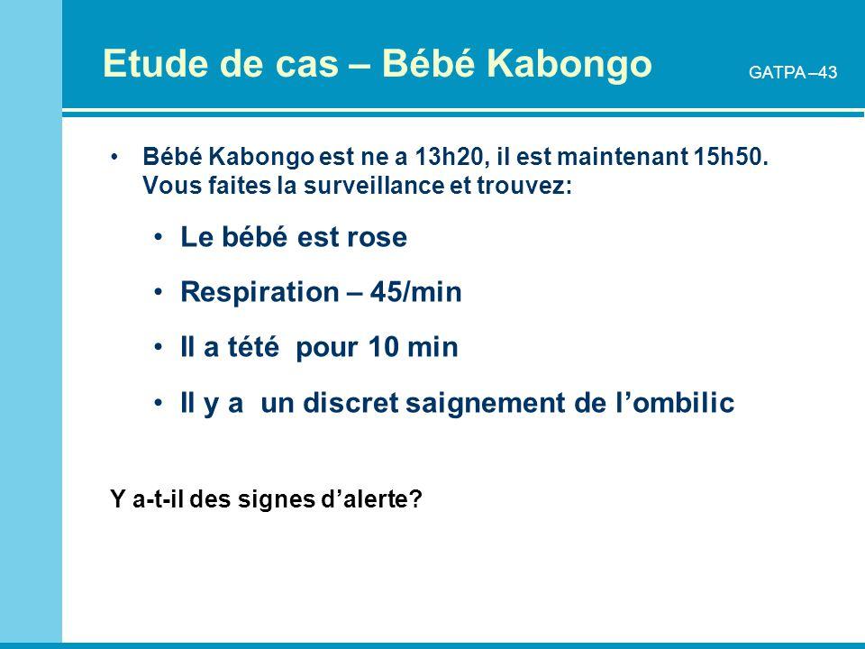 Etude de cas – Bébé Kabongo