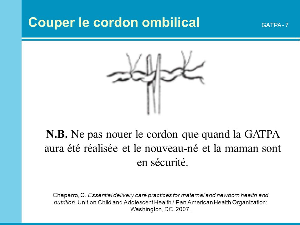 Couper le cordon ombilical