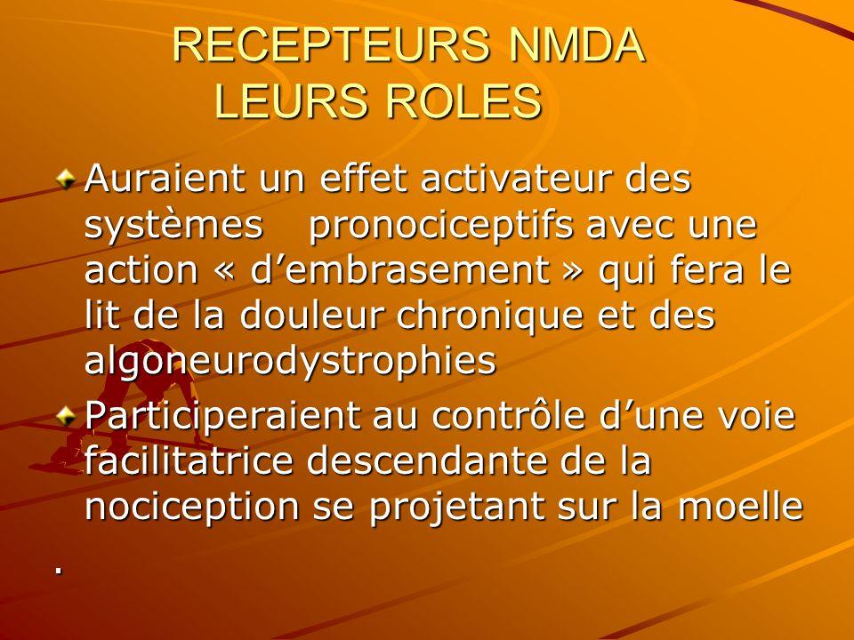 RECEPTEURS NMDA LEURS ROLES