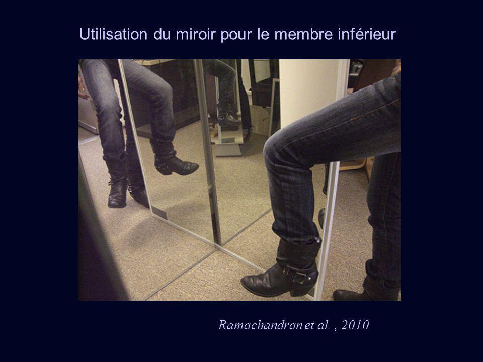 Utilisation du miroir pour le membre inférieur