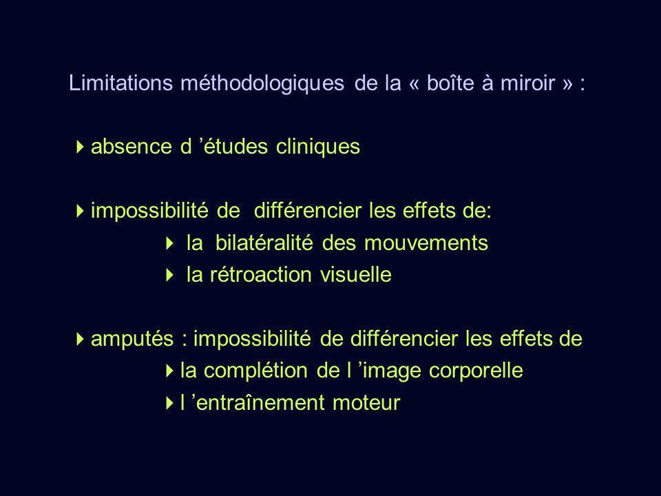 Limitations méthodologiques de la « boîte à miroir » :