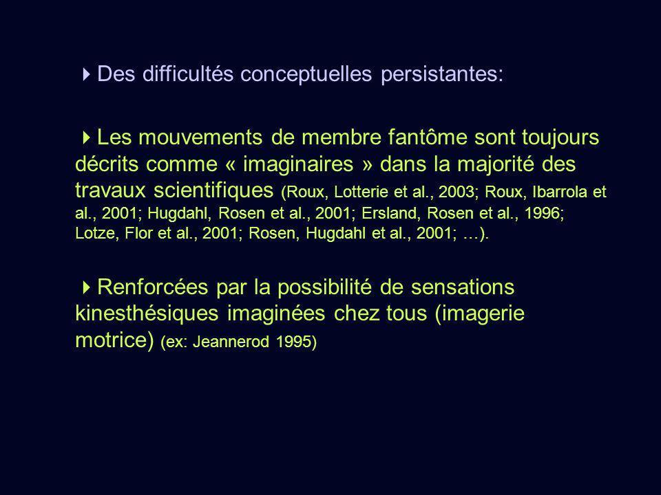 Des difficultés conceptuelles persistantes: