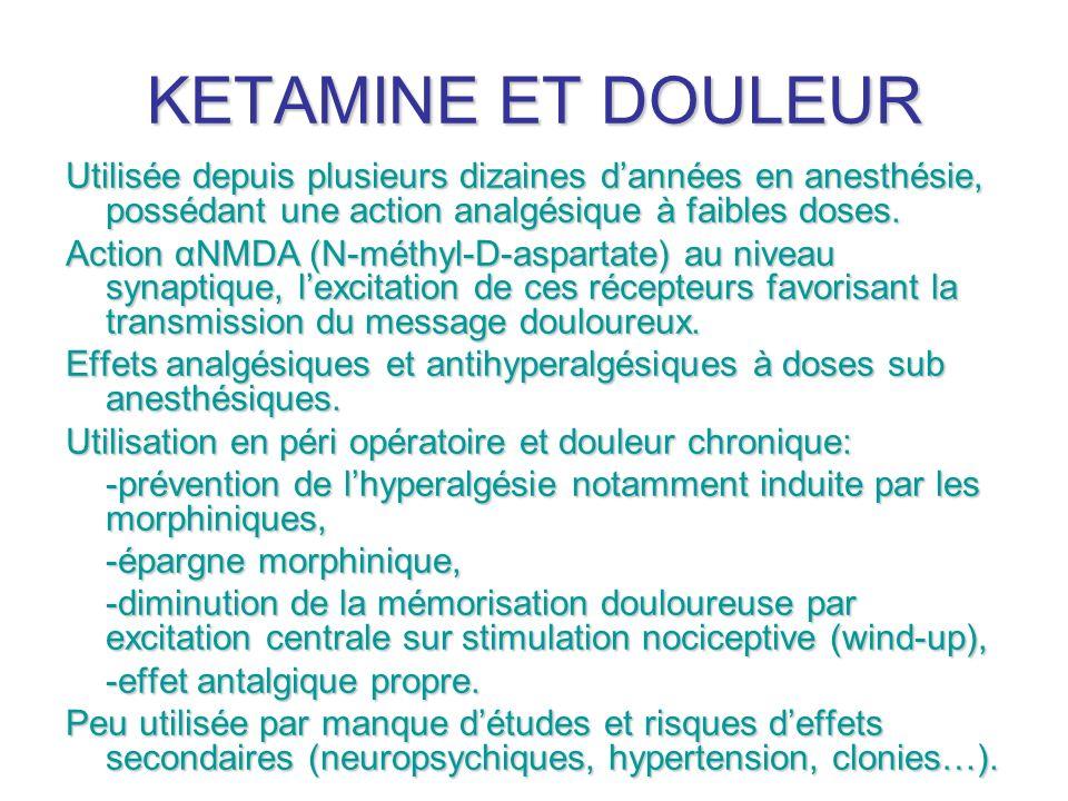 KETAMINE ET DOULEUR Actualités Sanofi-Aventis en Médecine