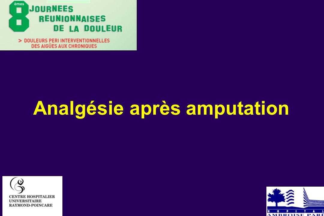 Analgésie après amputation