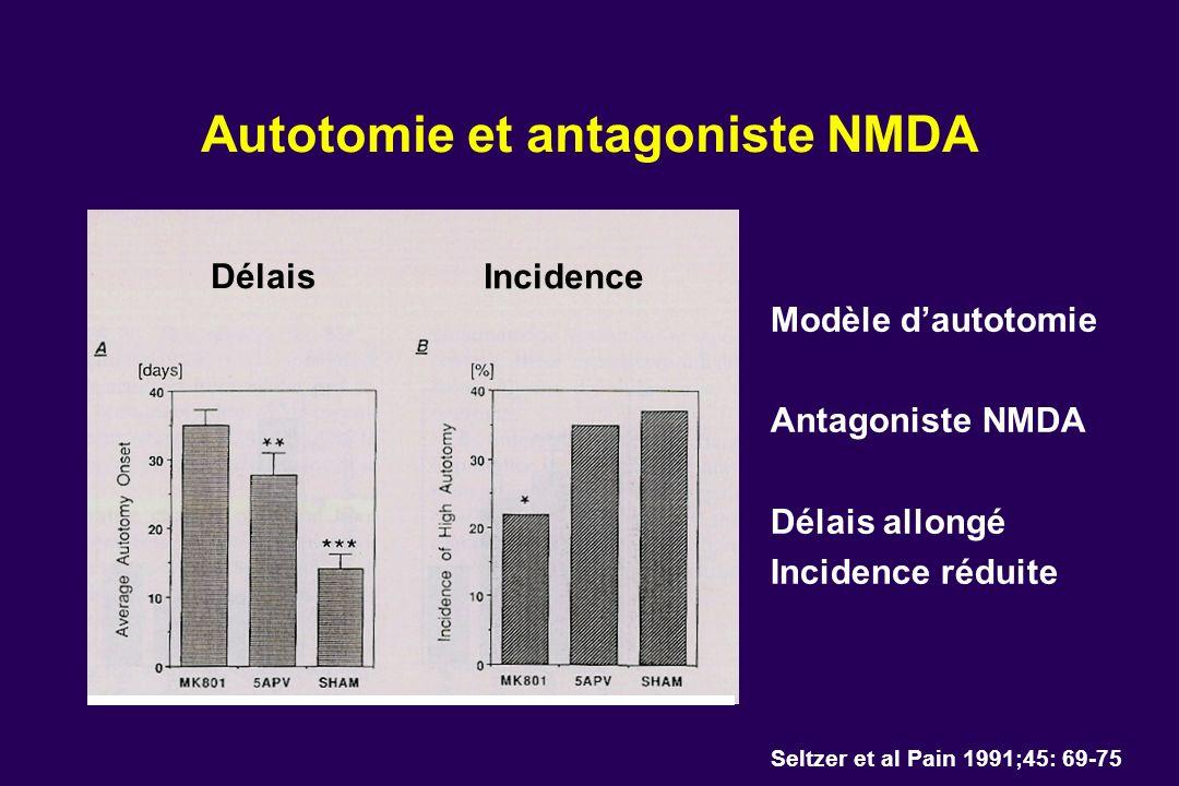 Autotomie et antagoniste NMDA