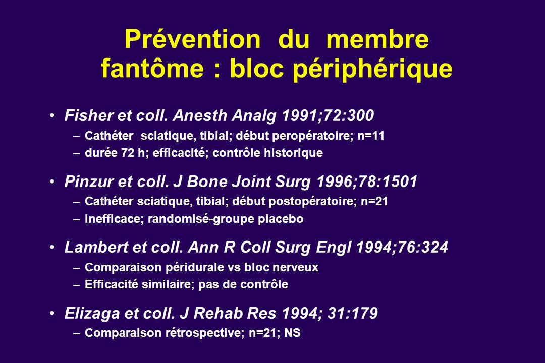 Prévention du membre fantôme : bloc périphérique