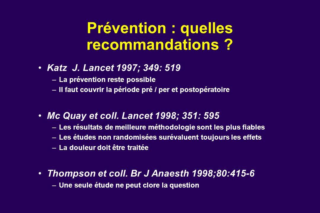Prévention : quelles recommandations