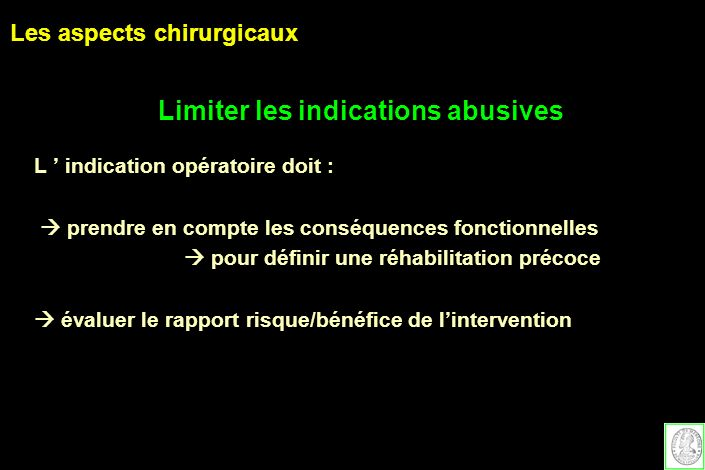 Limiter les indications abusives