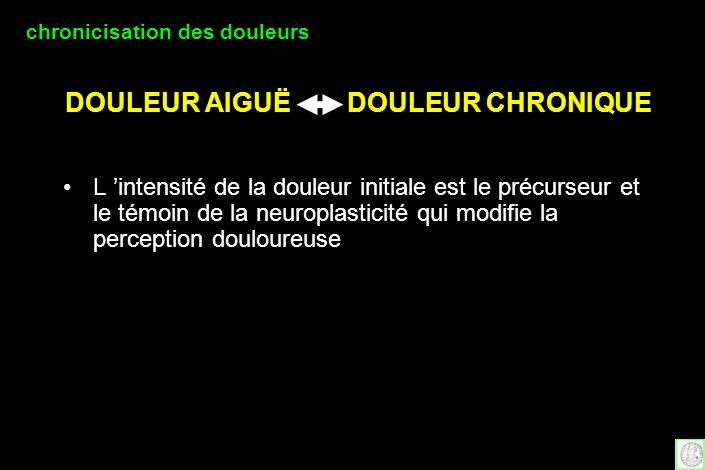 DOULEUR AIGUË DOULEUR CHRONIQUE