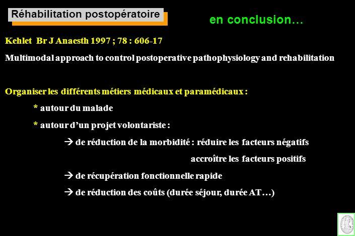 Réhabilitation postopératoire