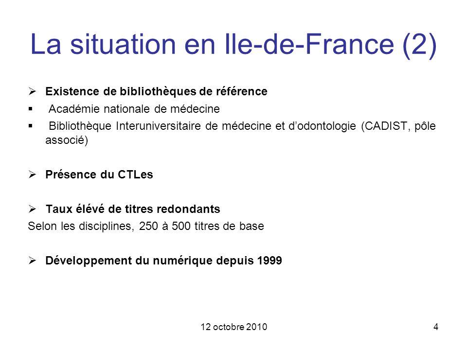 La situation en Ile-de-France (2)
