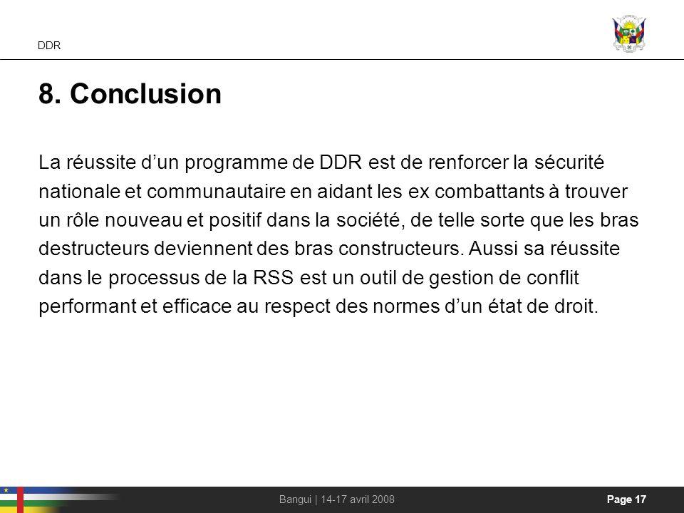 Handout DDR. 8. Conclusion.