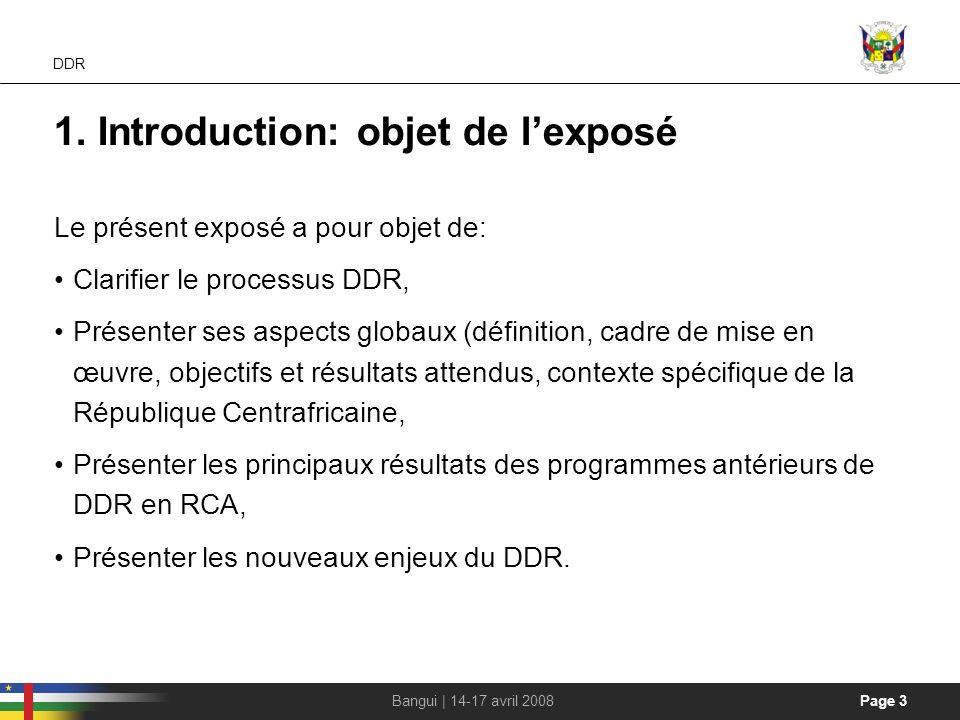 1. Introduction: objet de l'exposé