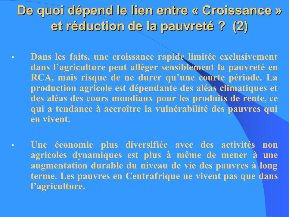 De quoi dépend le lien entre « Croissance » et réduction de la pauvreté (2)