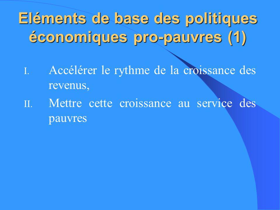 Eléments de base des politiques économiques pro-pauvres (1)