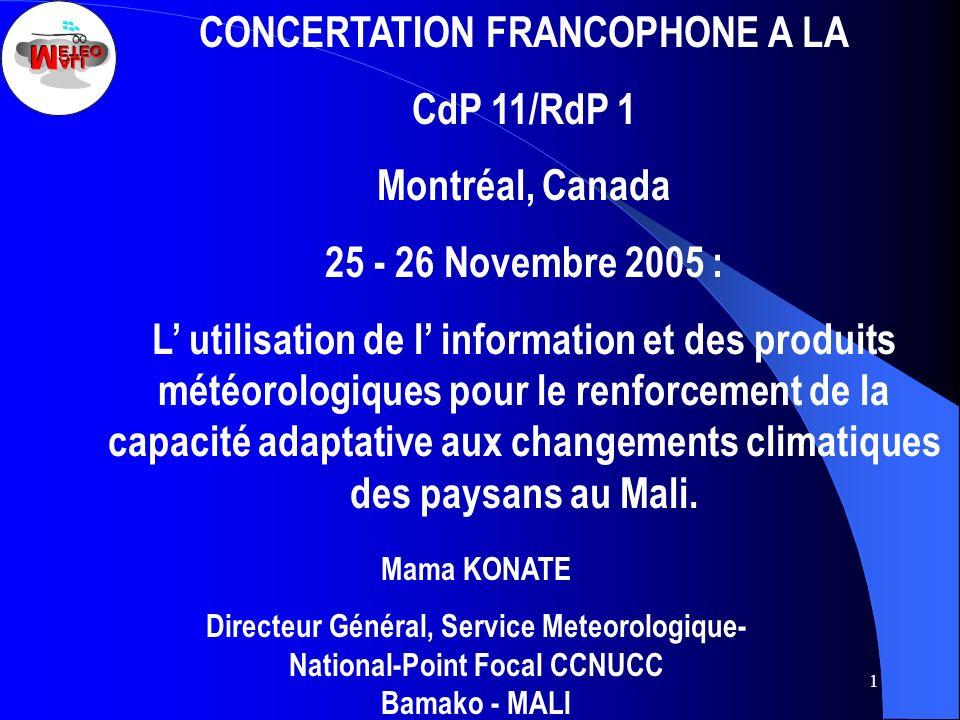 CONCERTATION FRANCOPHONE A LA