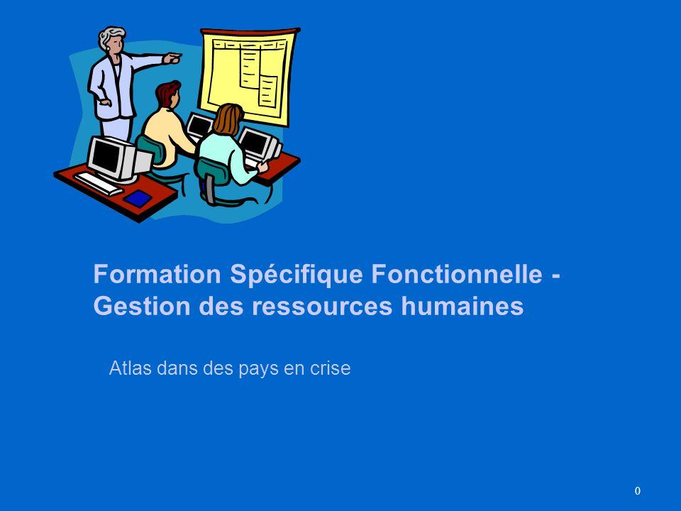 Formation Spécifique Fonctionnelle - Gestion des ressources humaines