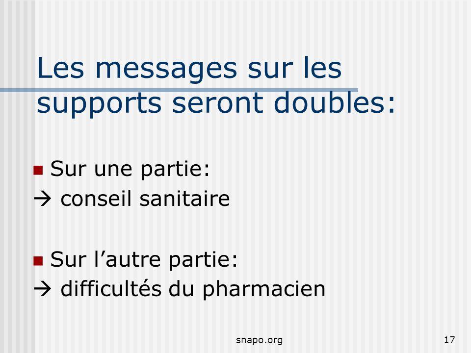 Les messages sur les supports seront doubles: