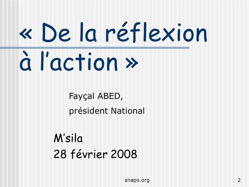 « De la réflexion à l'action »