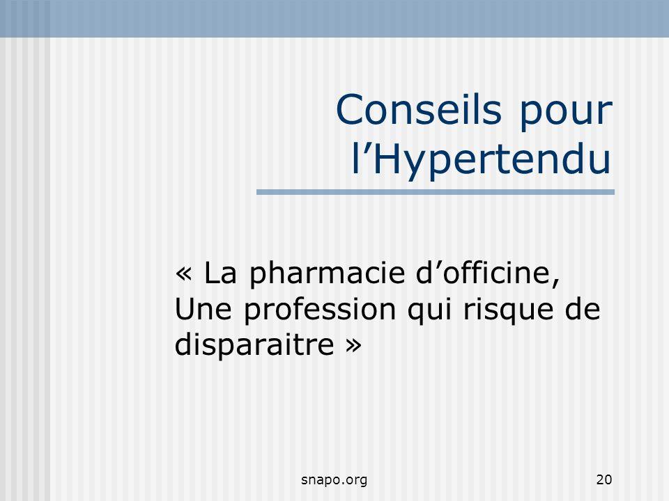 Conseils pour l'Hypertendu