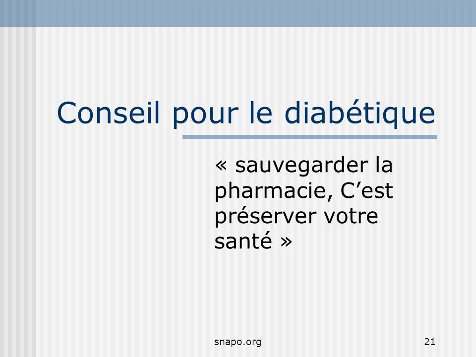 Conseil pour le diabétique