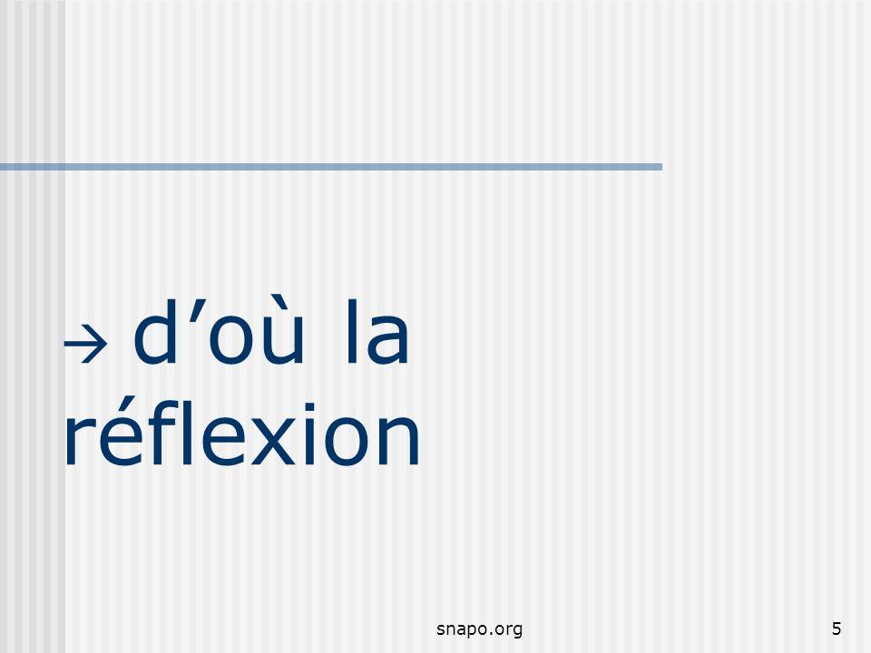  d'où la réflexion snapo.org