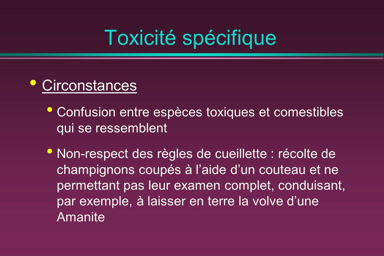 Toxicité spécifique Circonstances