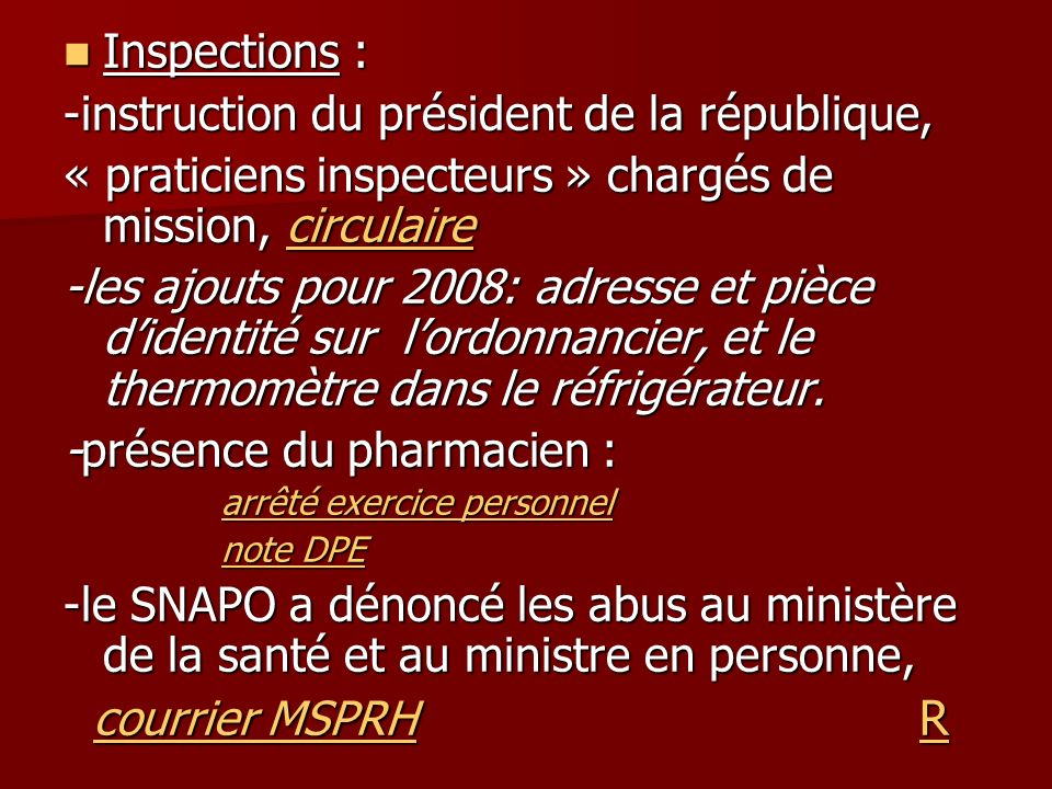-instruction du président de la république,