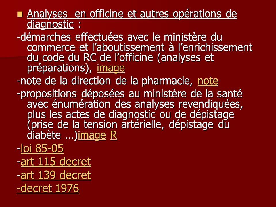 -loi 85-05 -art 115 decret -art 139 decret -decret 1976
