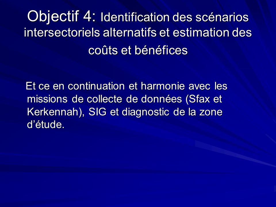 Objectif 4: Identification des scénarios intersectoriels alternatifs et estimation des coûts et bénéfices