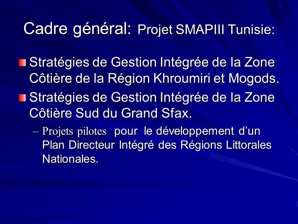 Cadre général: Projet SMAPIII Tunisie: