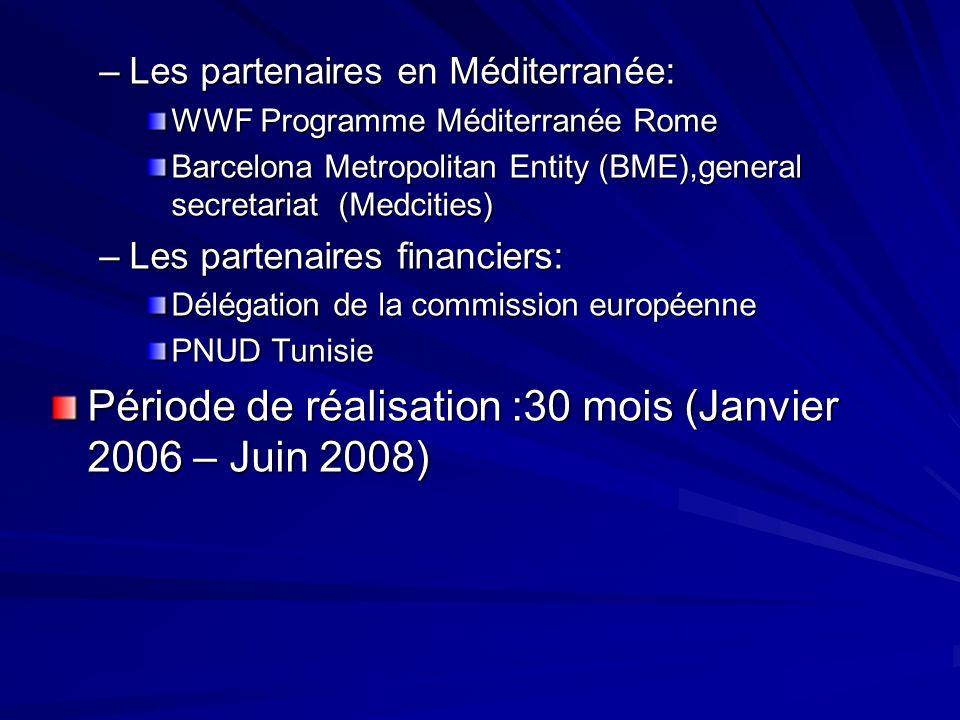 Période de réalisation :30 mois (Janvier 2006 – Juin 2008)