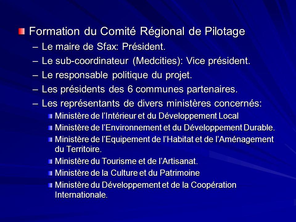 Formation du Comité Régional de Pilotage