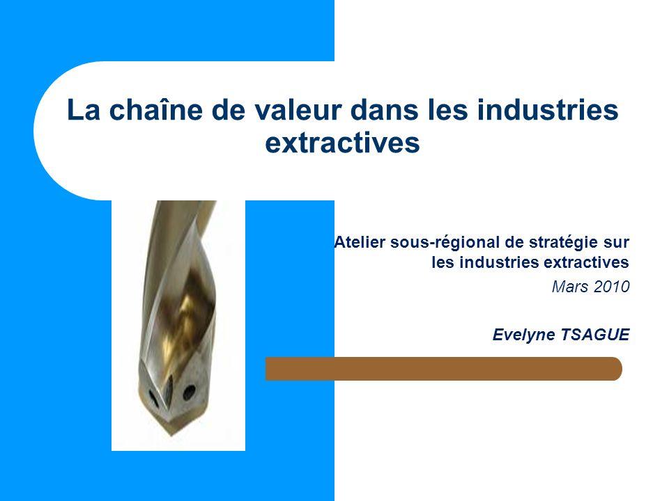 La chaîne de valeur dans les industries extractives
