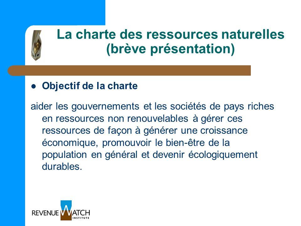 La charte des ressources naturelles (brève présentation)