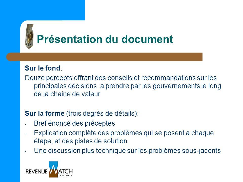 Présentation du document