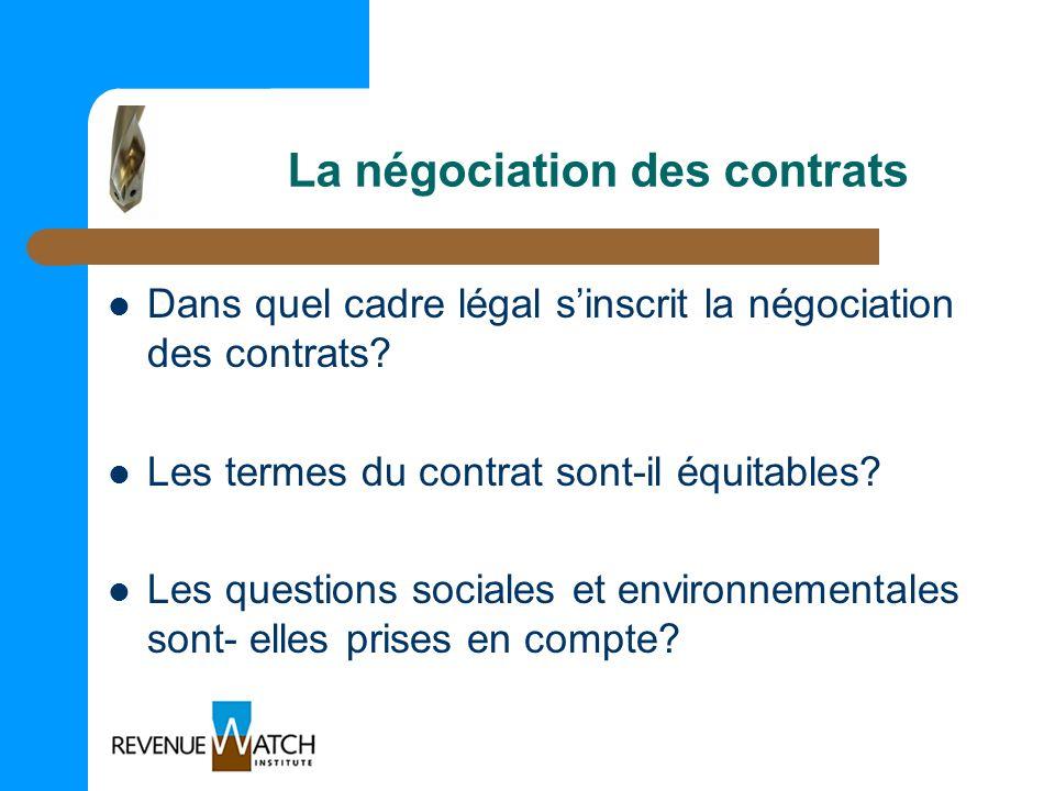 La négociation des contrats