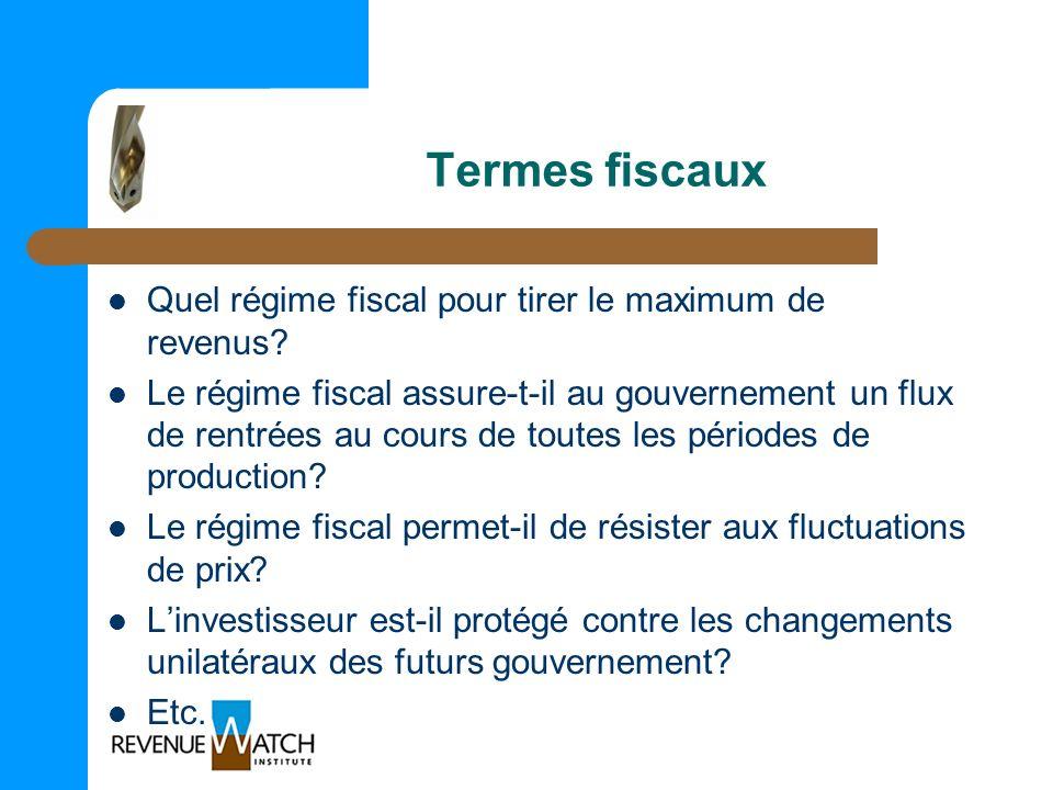 Termes fiscaux Quel régime fiscal pour tirer le maximum de revenus