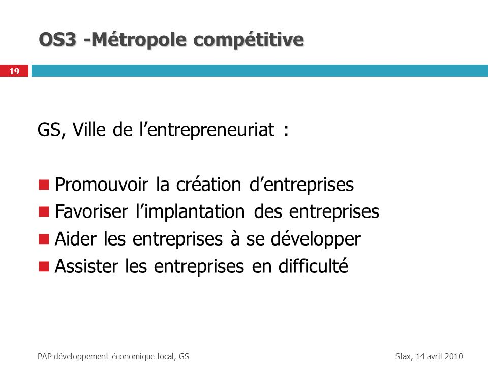 OS3 -Métropole compétitive