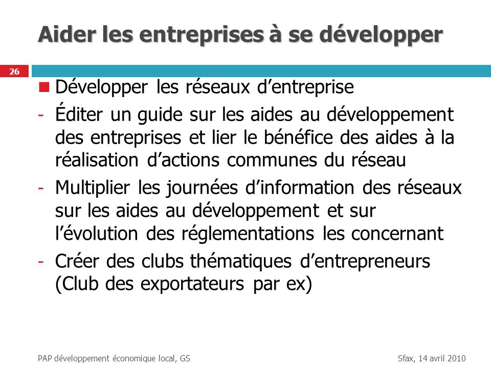 Aider les entreprises à se développer